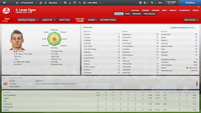 Football Manager 2013 Profile Lucas Digne