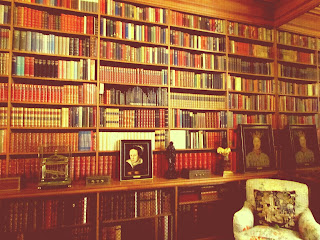Jacobean, House, library, Anglesey Abbey, National Trust, UK, history, property, visit, library, vintage, books, bookshelf, leather, Queen Mary, read, sit, armchair