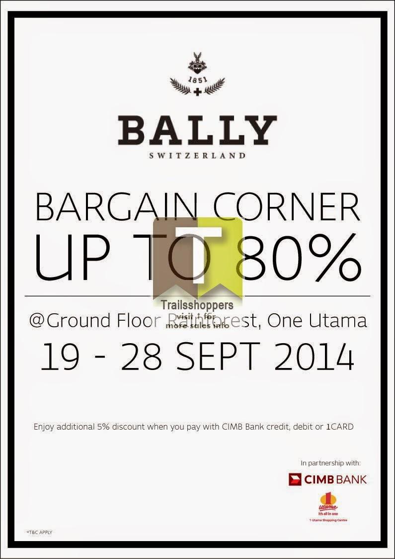 Bally Malaysia Bargain Corner Sale 1 Utama Shopping Centre Mall Damansara