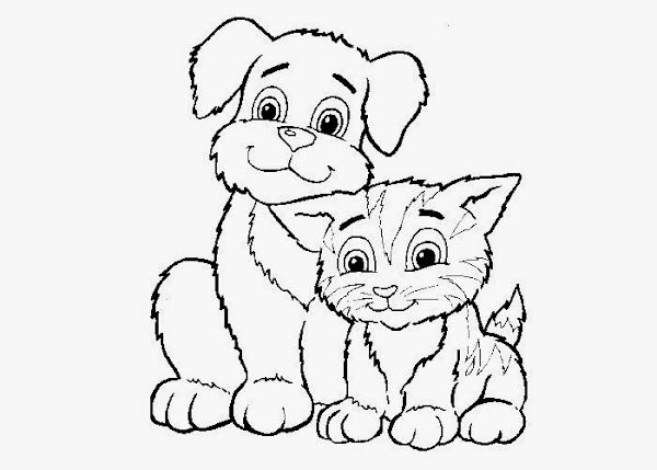 Free Printable Coloring Pages Cats And Dogs