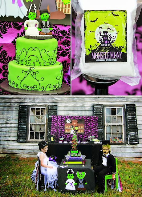 It's Halloweek! Frankenstein themed wedding party
