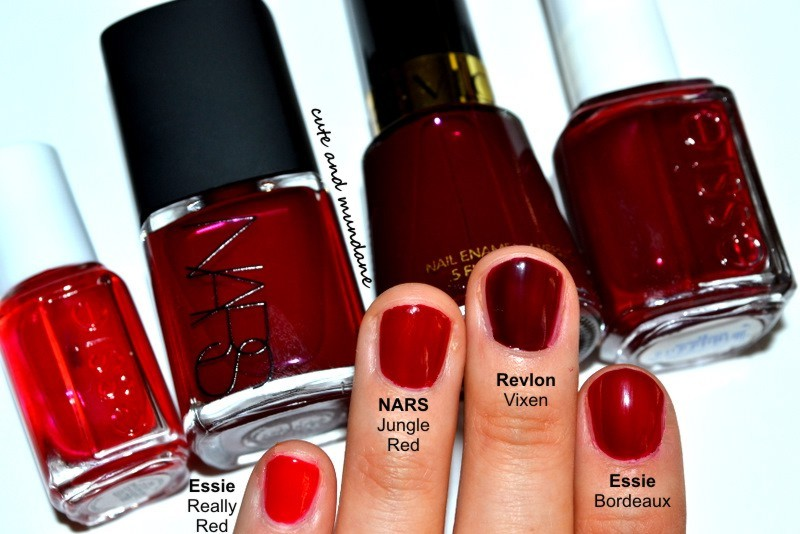 Cute and Mundane: NARS Jungle Red nail polish review