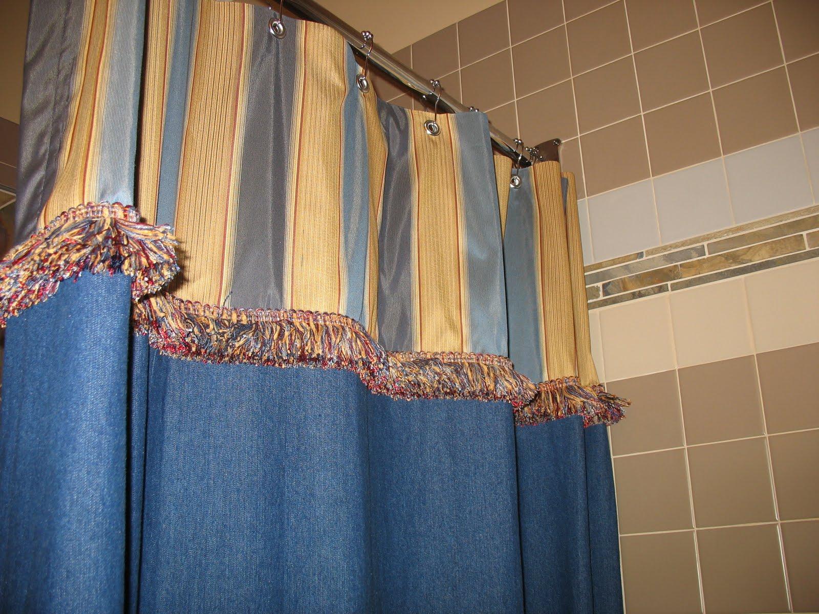 Custom Made Denim Shower Curtains