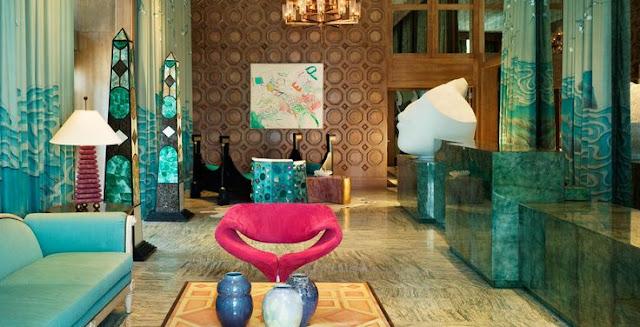 hotel-luxo-miami-decoração-pedra-agata-azul-decorar-hall-sofá-minerais-decor-home-casa-dicas-tutoriais