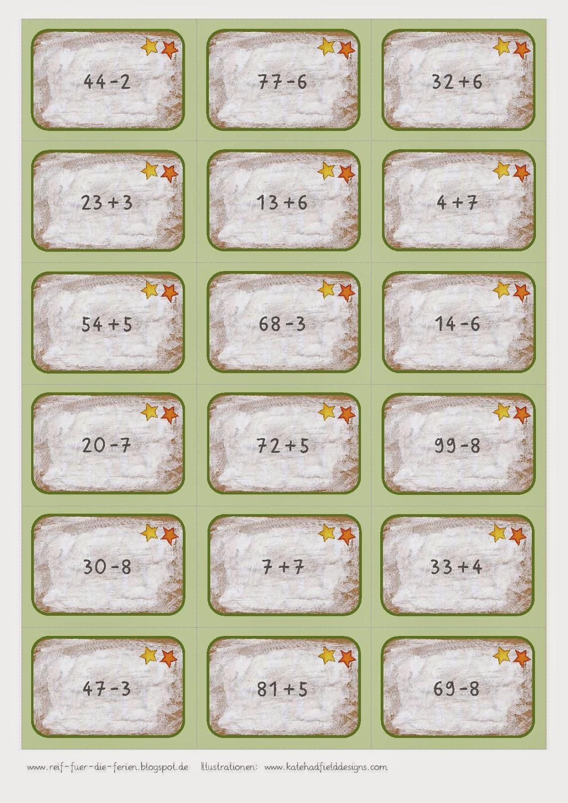 Mathe-Bingo bis 100 ohne ZÜ