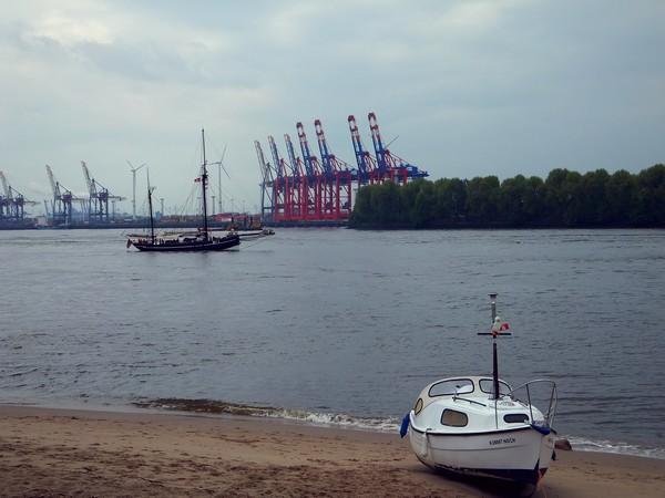 Hambourg Hamburg Elbe Elb övelgönne plage