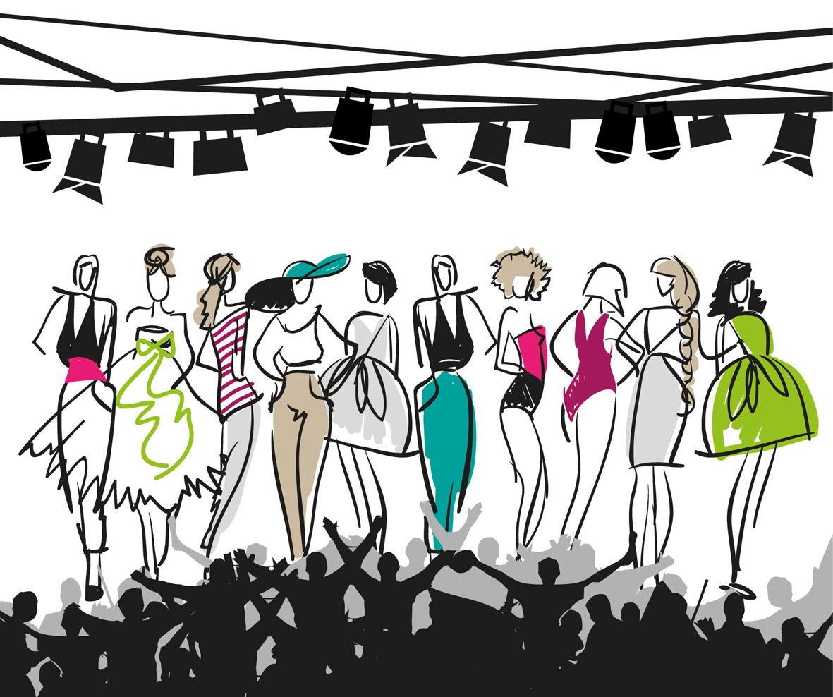 Clip art for fashion show 99