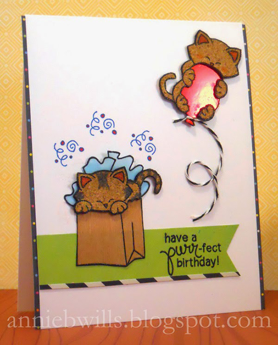 Birthday Cat Card by Annie| Newton's Nook Designs