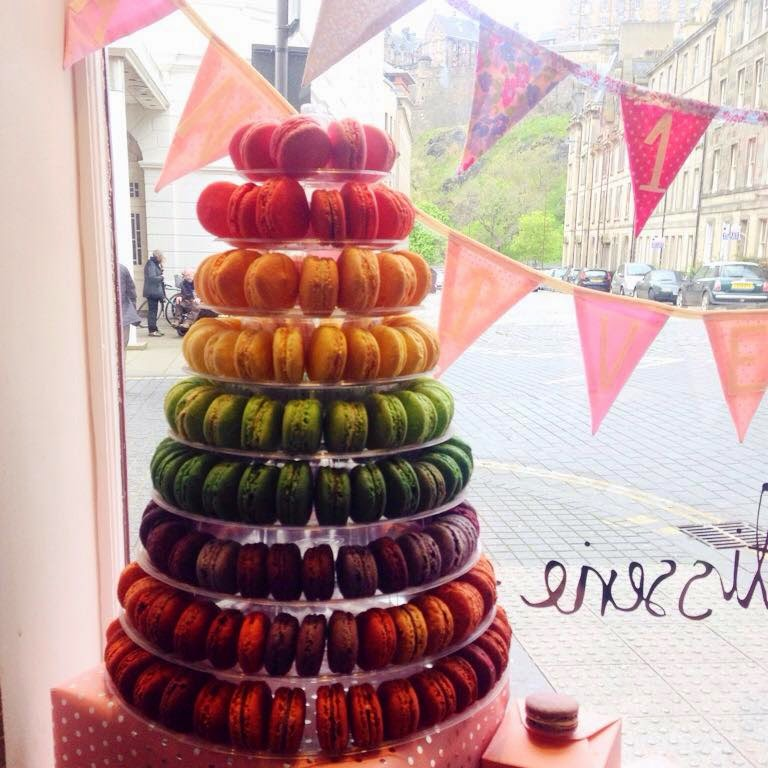 Mademoiselle macarons 1st birthday under the scottish rain and was decorated with balloons and bunting adding a very homely feel to it theres an area in the front where you can buy some macarons urmus Image collections