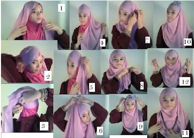 Cara Memakai Jilbab Kreasi Shawl Bekerut