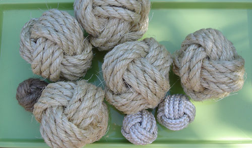 knot ball video tutorial: decorator rope balls