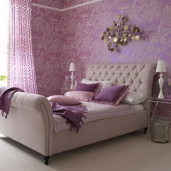 Habitaciones moradas dormitorios con estilo for Cortinas moradas para dormitorio