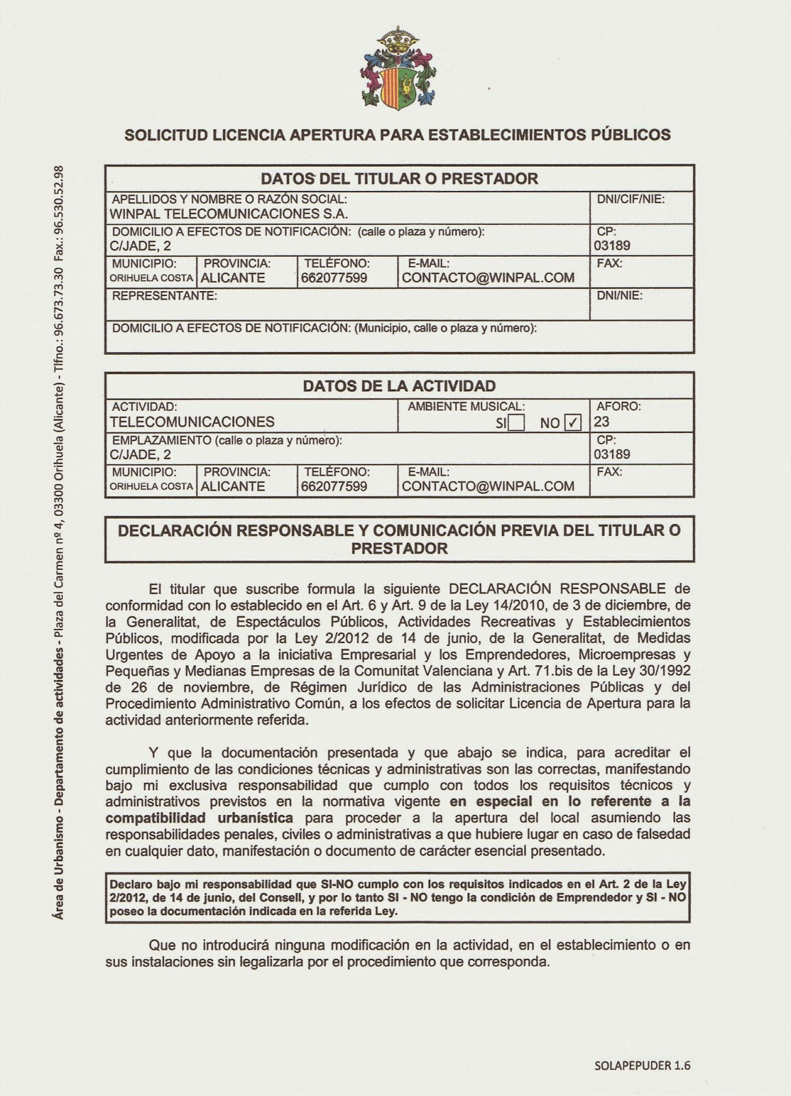 Licencia Apertura Local Madrid. Trendy Licencia De Apertura With .