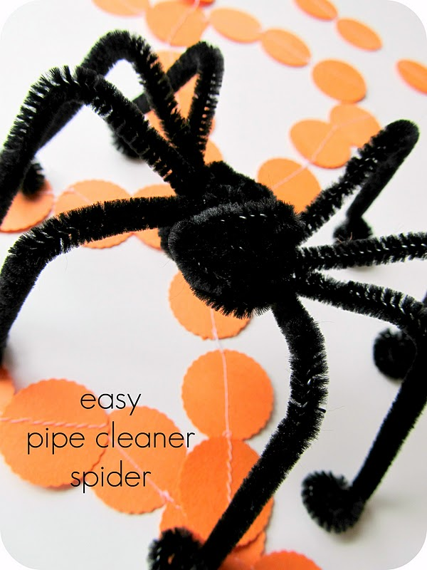 Pipe Cleaner Spiders Crafts Kids