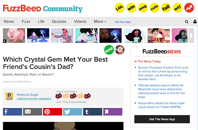 FuzzBeed - for your finest in Steven Universe clickbait