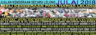1-31/07/2018 - JUALAN KENDERAAN LELONG SELURUH MALAYSIA & SEKITAR KLANG VALLEY-SGR/K L