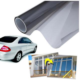 Pellicola adesiva protettiva solare vetri verde effetto specchio 150 x 20 cm per auto ingrosso - Pellicola oscurante vetri casa ...