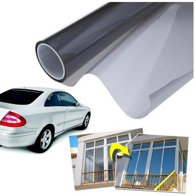 Pellicola adesiva protettiva solare vetri verde effetto specchio 150 x 20 cm per auto ingrosso - Pellicola a specchio per finestre ...