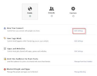 Edit Facebook Privacy Settings