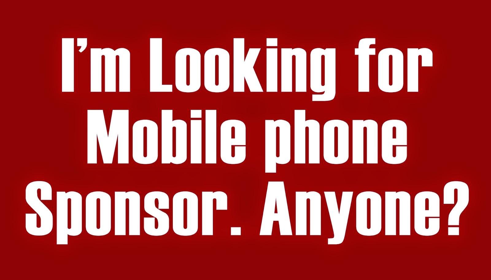 Looking for sponsor