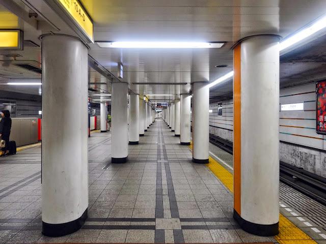 地下鉄ホーム,赤坂見附駅〈著作権フリー無料画像〉Free Stock Photos