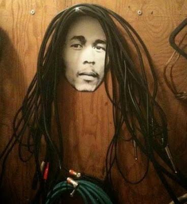 Unik, rambut Bob Marley dari kabel