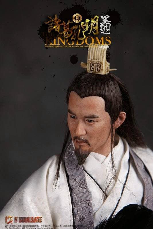 O-Soul Toys Heroes of the Three Kingdoms - Zhuge Liang (Black Feather Version)