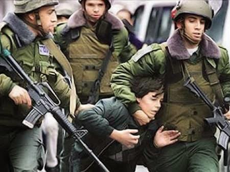 Festnahme eines palästinensischen Kindes