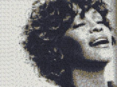 Retratos Pixelados, Arte con teclas de ordenador