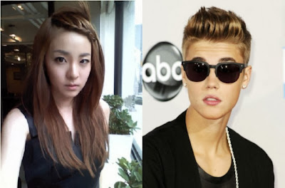 Foto Justin Bieber Kecup Pipi Sandara Park 2NE1