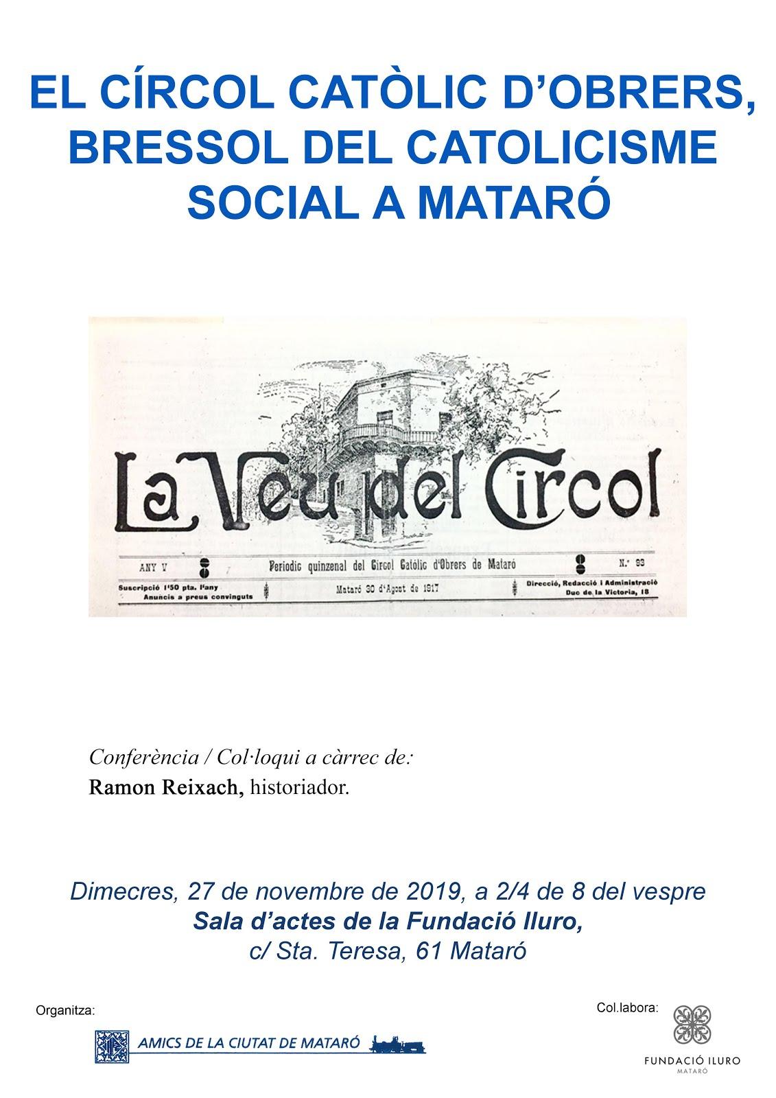 Conferencia el 27 de novembre