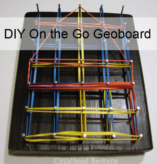 do it yourself geoboard with storage pouch