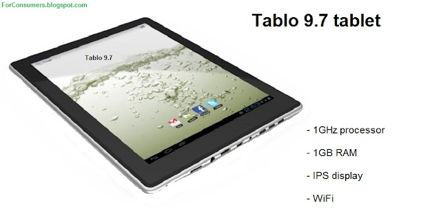 Tablo 9.7 Android tablet specs and review