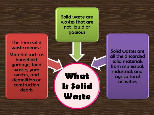 What are solid wastes?