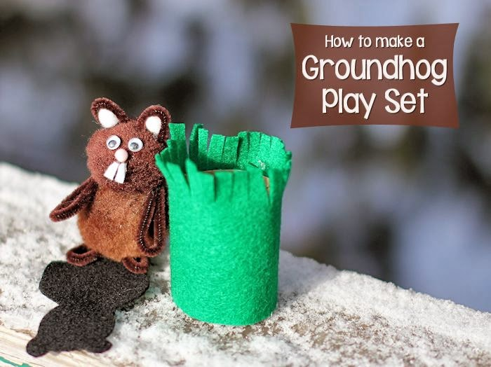 groundhog day felt craft for kids