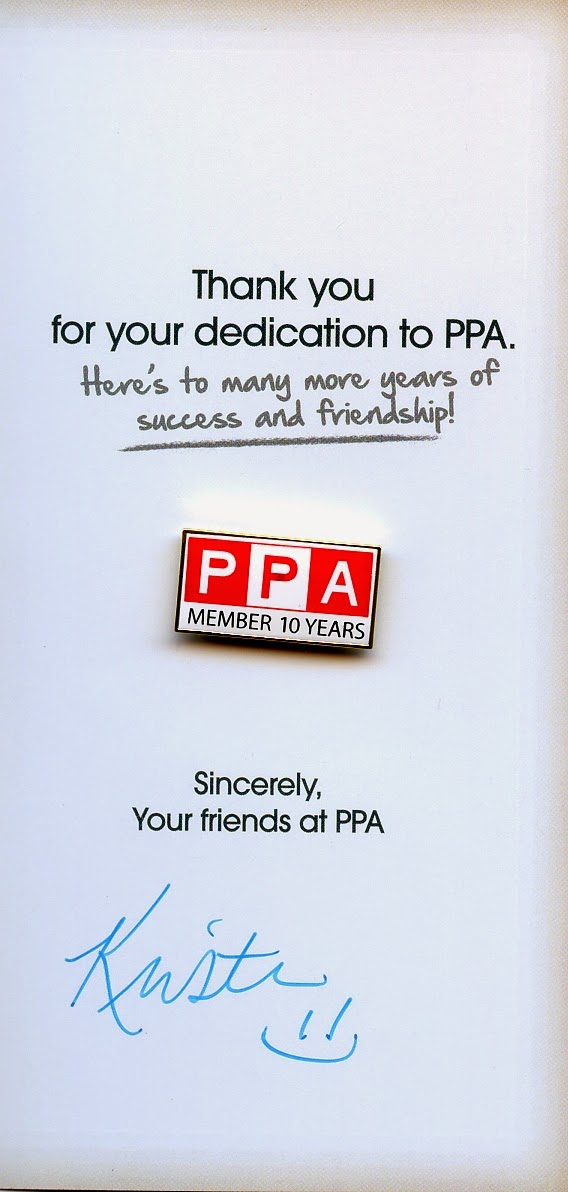 10 year membership pin from PPA