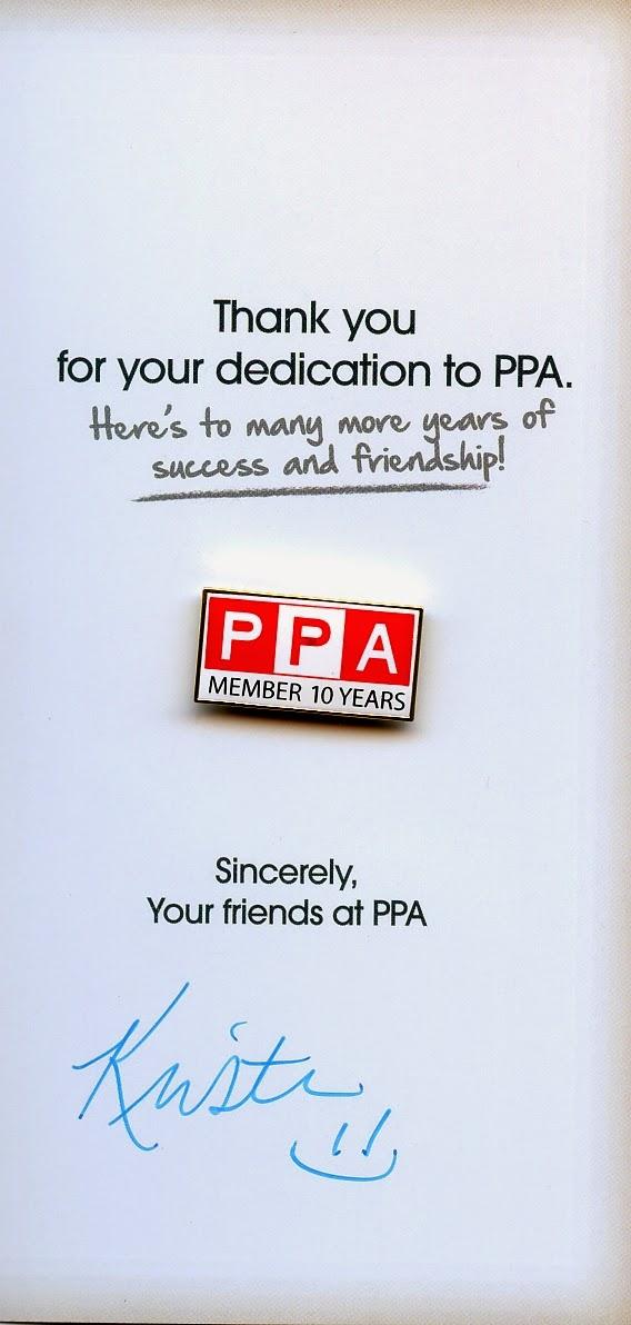 10 year membership pin from PPA