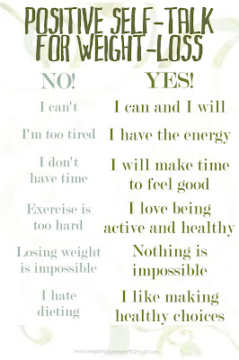 Positive self talk weight loss of