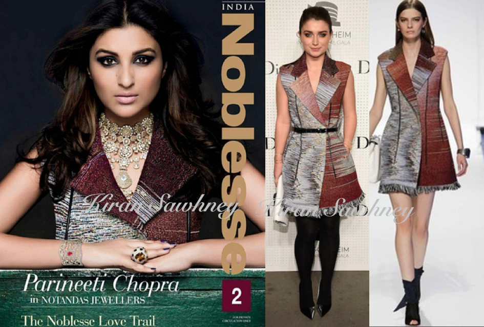 Parineeti Chopra on Noblesse in Dior