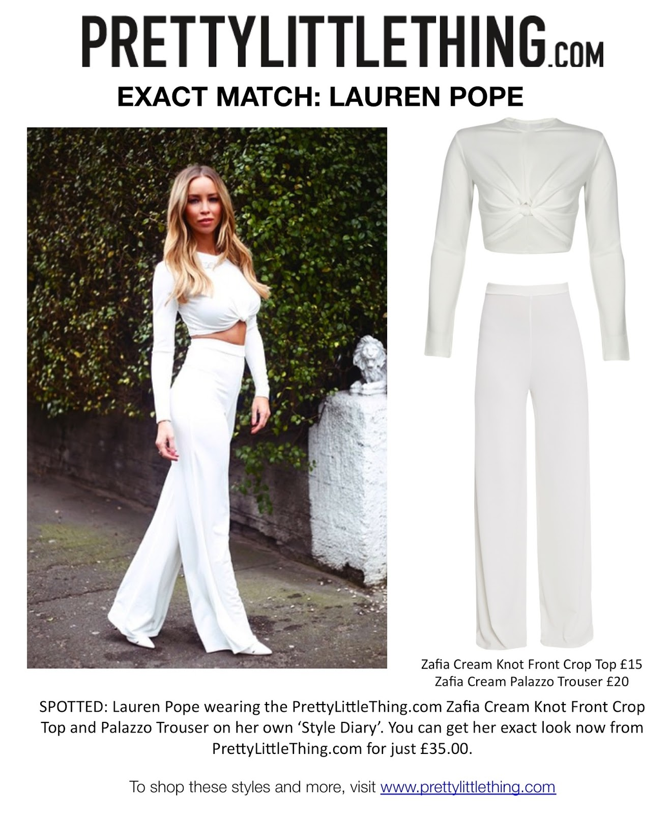 468a868e7a5 frumpy to funky  EXACT MATCH - Lauren Pope wearing Pretty Little Thing