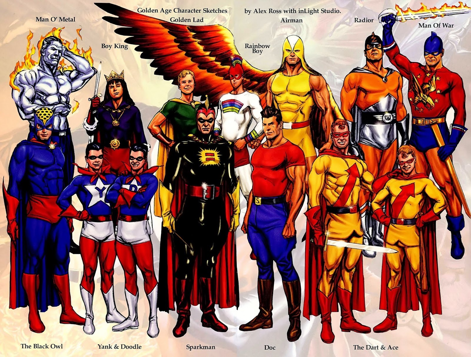 Alex Rosss Designs For The Public Domain Heroes