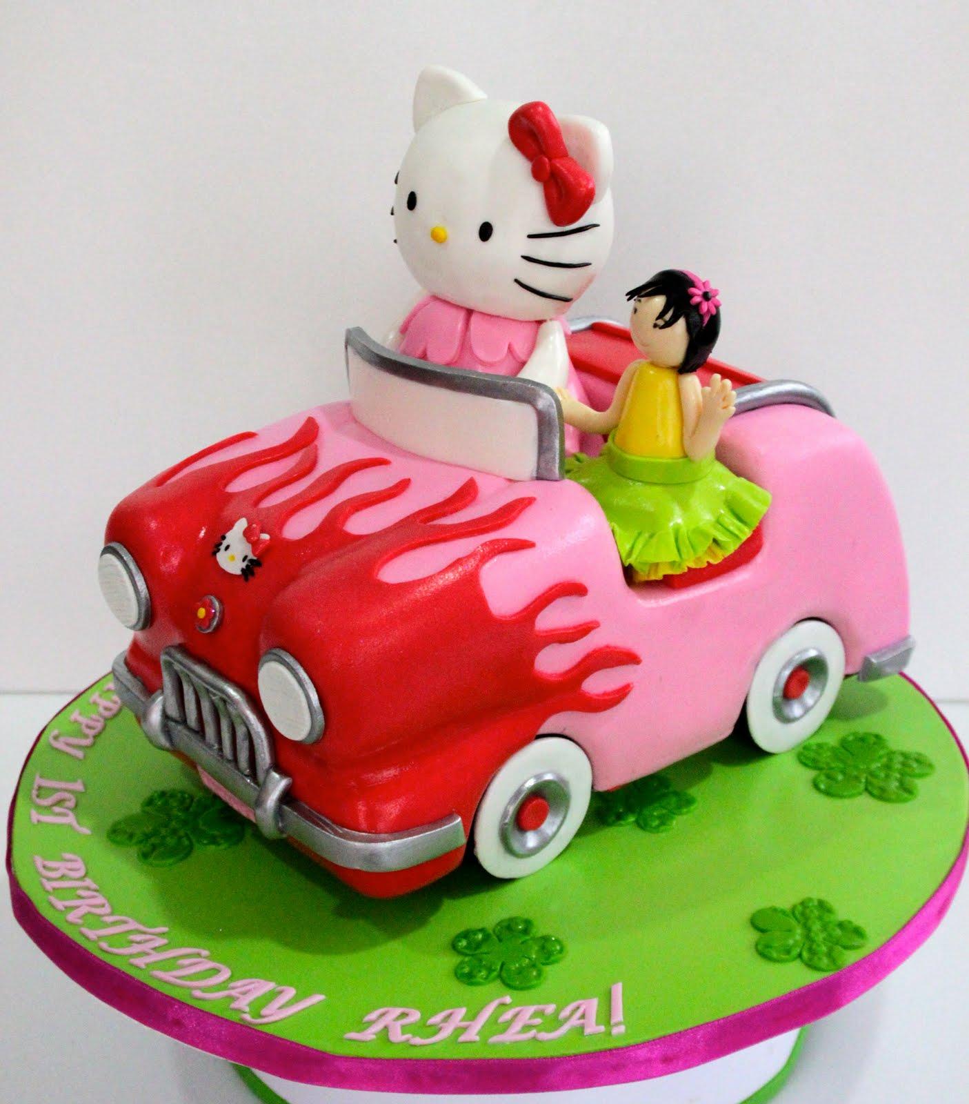 Celebrate with Cake Hello Kitty Car Cake