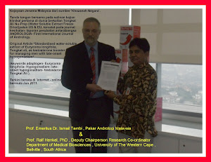 Kajian Klinikal, Nu-Prep 100 'Andrologia 2011'. Pertemuan 2 profesor Malaysia & South Africa.