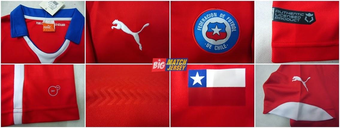Detail Jersey Chili Home Piala Dunia 2014 Brazil Resmi