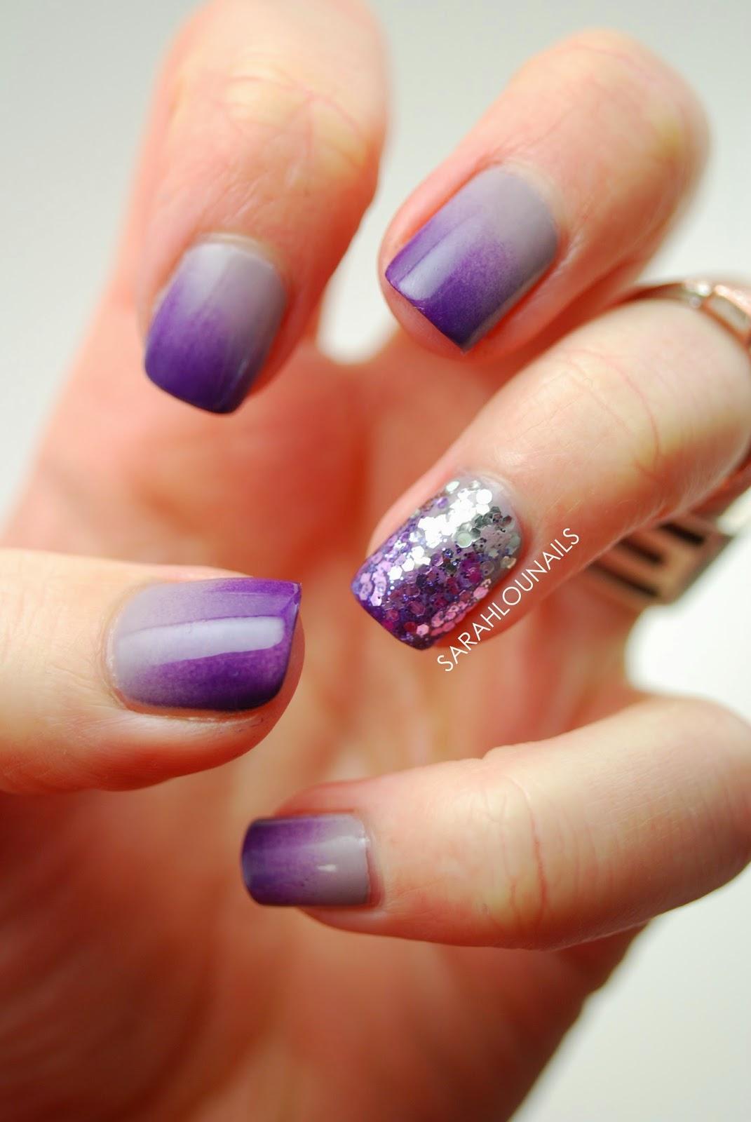 Sarah Lou Nails: Gray-Purple Gradient Nails!
