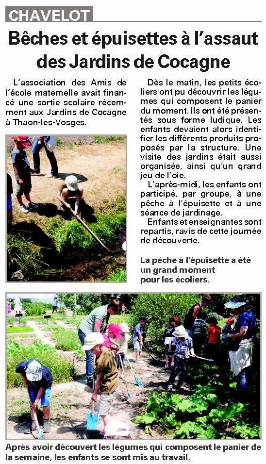 Les amis de l 39 ecole maternelle de chavelot la sortie aux for Les jardins de cocagne