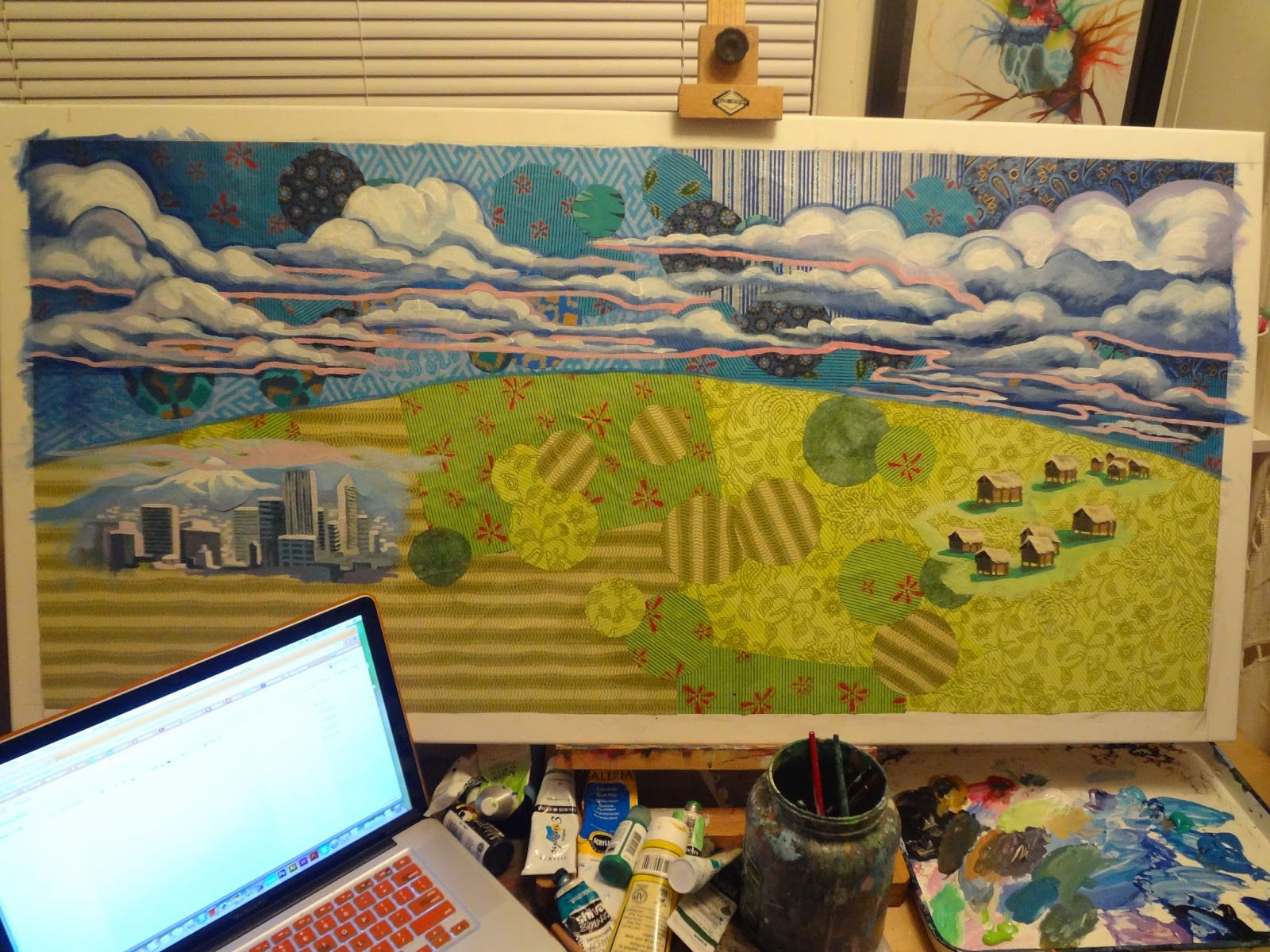 The Talking Walls: Sneak peek of a new painting, and a look back...