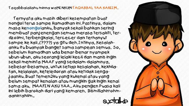 Kartun Ikhwan Muslim Taqobbalallahu Minna Waminkum