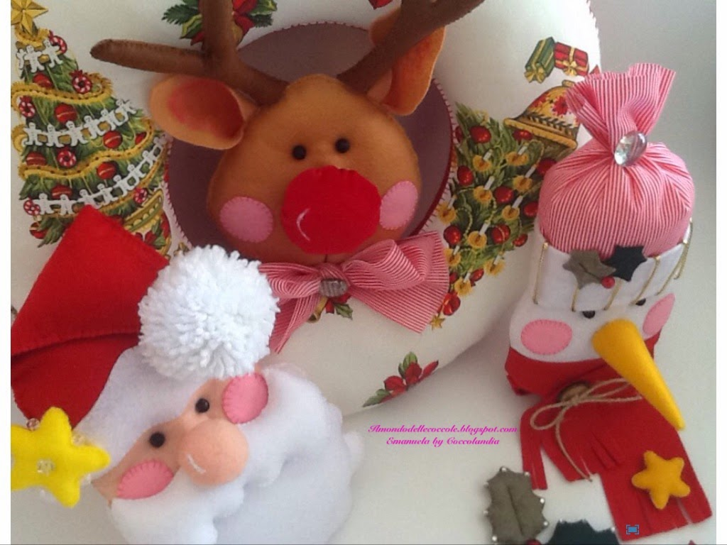 Ghirlanda, Natale,feltro, pannolenci, handmade