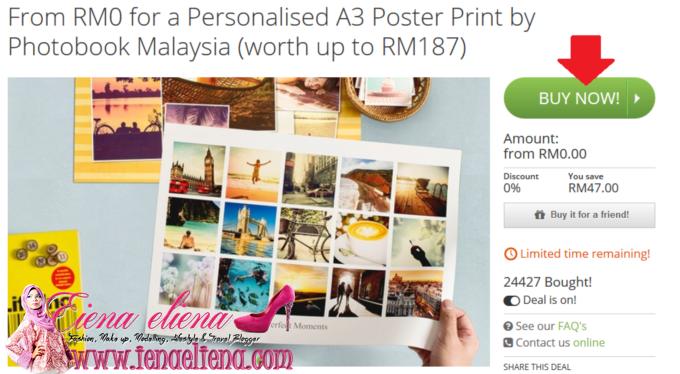 A3 Poster Print Percuma bernilai RM47